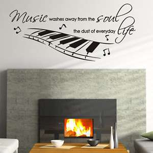 Music Life Quote Vinyl Wall Decals Stickers Art #012