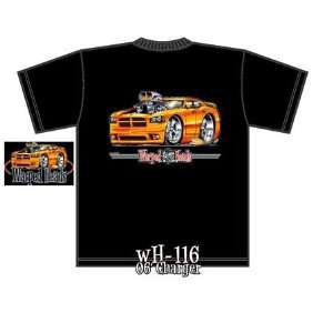 2006 Dodge Charger Black Warped Heads Tee Shirt Xxxlarge