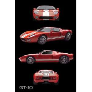 FORD GT 40 SPORTS RACING CAR 24 X 36 POSTER #PP30997