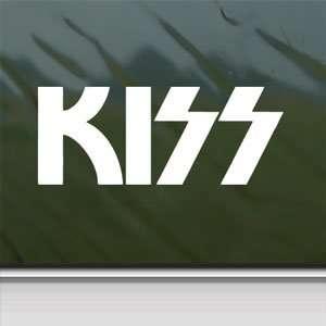 KISS White Sticker Rock Band Car Laptop Vinyl Window White
