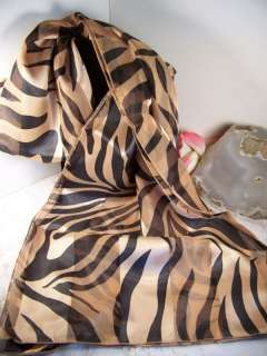 Black & Brown Animal Stripe Print Scarf Pretty