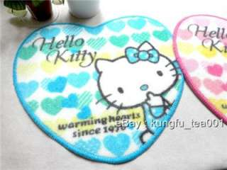 Pair Hello Kitty Heart Shape Car /Bath Mat Rug Carpet