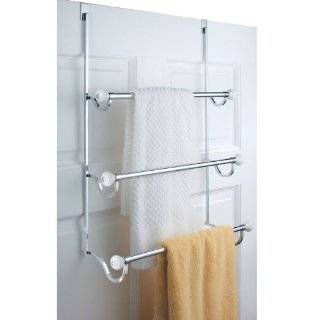 Aquatico Over The Door Towel Rack, Chrome