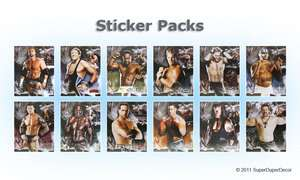 WWE 2011 STICKERS wrestlers bedroom wall sticker pack