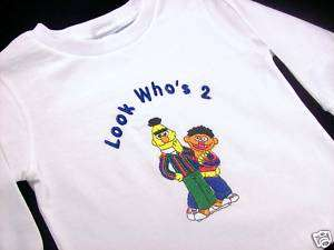 Personalized Custom Sesame Street Bert Ernie Long Sleeve Shir