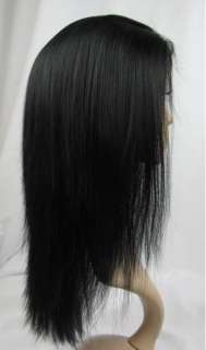 24 French Full Lace Wig India Remi YAKI Straight Human Hair~