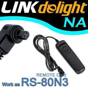 Shutter Remote Cord Canon 40D 50D 7D 5D II RS 80N3 R9D