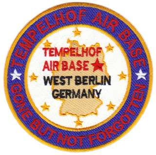USAF BASE PATCH, TEMPELHOF AIR BASE, WEST BERLIN GERMANY Y