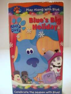 Blues Clues Blues Big Holiday VHS Tape