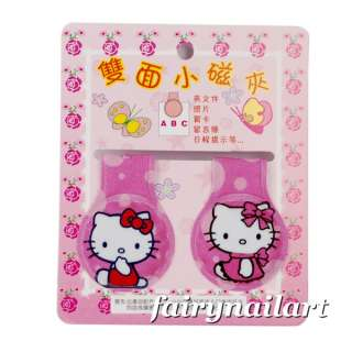 2x Hello Kitty Paper Clip Magnet Book Mark Bookmarker