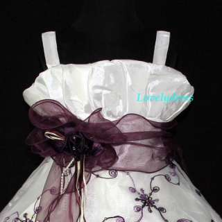 NEW Flower Girl Wedding Pageant Party Dress Outfit Children Wear Set