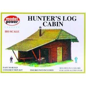 Model Power 434 HO Scale Hunters Log Cabin Kit: Toys & Games
