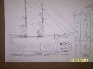 BRIG ship plans model plans |