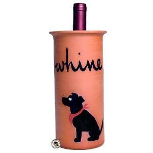 Black Labrador Retriever Dog Clay Whine Wine Cooler