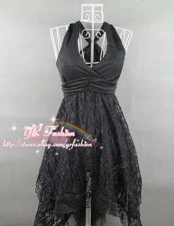 yrfashion Korean Women Fashion Modish Lace Pleated Flounce V Neck