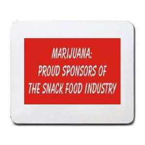 PROUD SPONSORS OF THE SNACK FOOD INDUSTRY Mousepad Office Products