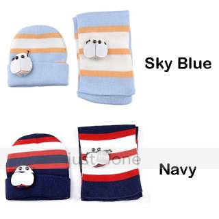 Sweet Lovely Bee Baby Toddler Boy Girl Kids Warm Hat Beanie Cap +Scarf