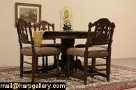 Round Oak Lion Paw Dining Table Extends 9 9