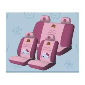 .) new Hello Kitty Universal Car Seat Cover   10pcs Full Setpink