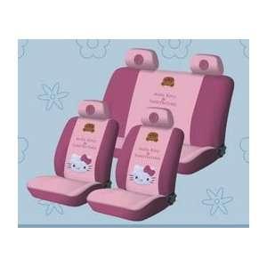 .) new Hello Kitty Universal Car Seat Cover   10pcs Full Setpink