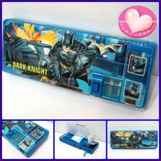 DC Batman Dark Night Pencil Case Box w Sharpener BLUE