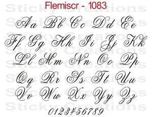 1083 CUSTOM FANCY SCRIPT LETTERING Customized Vehicle Decal Sticker