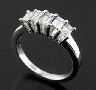 00 CARAT EMERALD CUT DIAMOND ANNIVERSARY RING 14K
