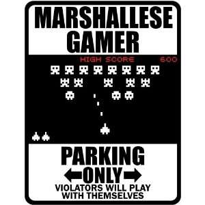 New  Marshallese Gamer   Parking Only ( Invaders Tribute   80S Game