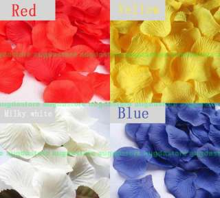wedding petals flower red rose silk party decoration gift Favors