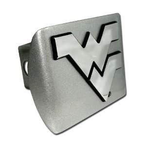 West Virginia University Mountaineers Brushed Silver with Chrome WV