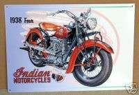 INDIAN MOTORCYCLES MODEL1938 FOUR METAL SIGN