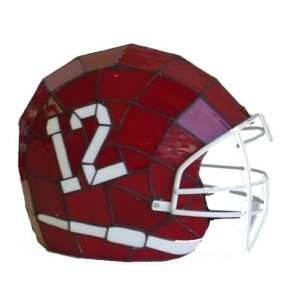 Alabama Crimson Tide Glass Helmet Lamp