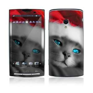 Xperia X10 Skin Decal Sticker   Christmas Kitty Cat