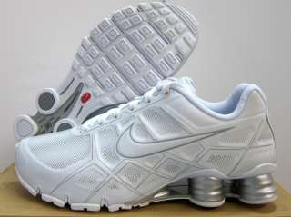 NEW MENS NIKE SHOX TURBO XII RUNNING [488314 101] White Metallic