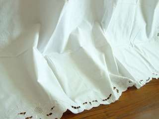 Hand Embroidered Window Panel Drape Curtain 60x84 WHITE L032809