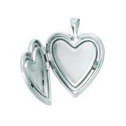 Sterling Silver Mom and Colored Flower Heart shaped Locket Necklace