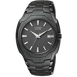 Citizen Mens Eco Drive Ion plated Black Stainless Steel Watch