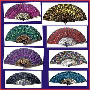 choose Ladys fans embroider silk hand exquisite Folding fan |