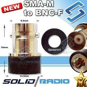 to BNC Antenna Adapter for BaoFeng UV 3R UV 100 UV 200 radio