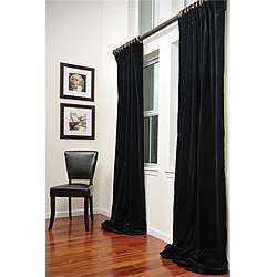 Signature Black Velvet 108 inch Curtain Panel