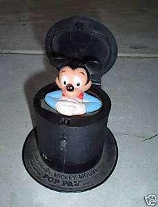 ODD Vintage Mickey Mouse Pop Pal Toy LOOK