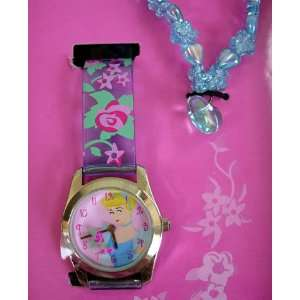 Disney Princess Cinderella Watch W/ Jewelry Gift Set