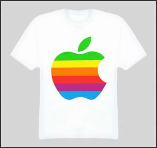 1979 a is for apple ii computer photo color logo vintage for Apple shirt screen printing