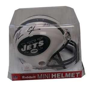 Autograph Vernon Gholston Jets Mini Helmet  Sports