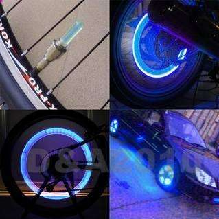 pieces Cycling Motor Car Tire Spoke Wheel Alarm LED blue Light Lamp
