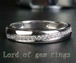 WHITE GOLD PAVE DIAMOND WOMEN MENS Engagement WEDDING BAND RING
