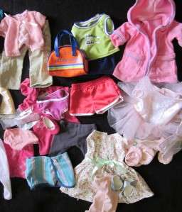 GIRL DOLL CLOTHING OUTFIT LOT JLY JULIE SAMANTHA KIT MOLLY ADDY BATTAT
