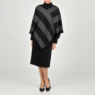 Lennie for Nina Leonard Womens Charcoal/ Black Swetaer Dress