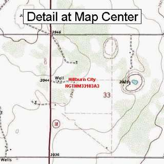 Map   Hillburn City, New Mexico (Folded/Waterproof)
