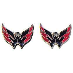 Washington Capitals NHL Charm Post Stud Logo Earring Set